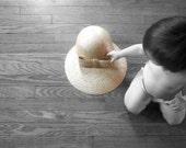 Vintage Large Brim Rattan Sun Hat