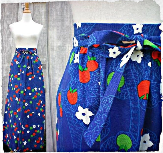 ON RESERVE............An Apple A Day Vintage Maxi Skirt