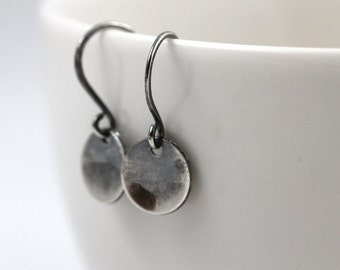 Minimal Earrings, Ready to Ship, Sterling Silver Earrings, Disc earrings, Dangle Earrings, Dainty Earrings, Valentines Gift