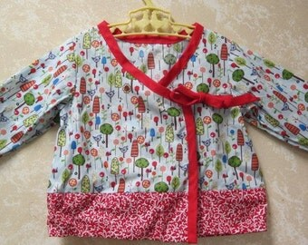 Hand-Stitched Custom Made Childrens Shirt & Pants with Bonnet