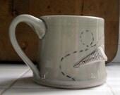Paper Airplane Mug High Fire