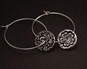 Pure Silver Flower Earrings