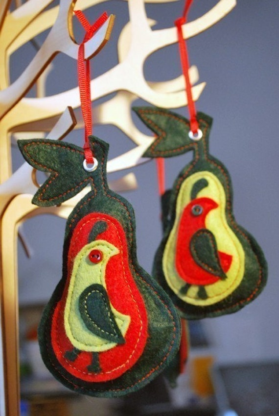 Partridge In A Pear Tree Ornament ORNAMENTS Partr...