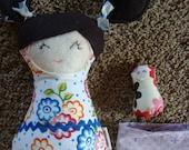 Doll Sewing Pattern PDF Cute Stuffed Fabric Cloth Dolly Tutorial Smappy Baby Doll