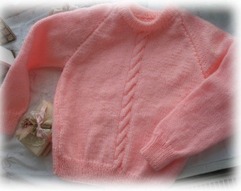 SALE Sweet Pink Baby Sweater
