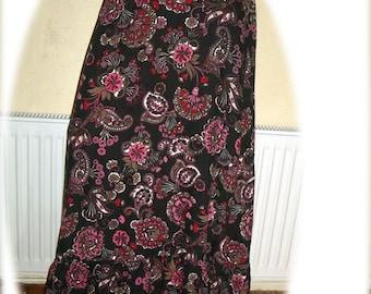 Vintage 70's Extra Long Maxi Skirt