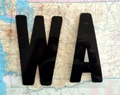 WA in Plastic Sign Letters