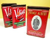 Velvet and Prince Albert Tobacco Tins