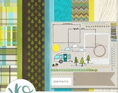 The Great Outdoors Digital Scrapbooking Kit