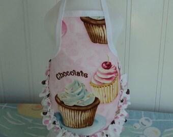 Chocolate Cherry Cupcakes ..Dish Soap Bottle Apron