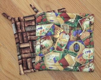 Wine Labels and Corks.. Potholders