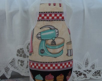 Vintage Teal Jadite Mixer.. Dish Soap Bottle Apron - fits 25 oz.