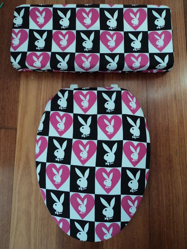 Playboy Bunny Toilet Seat Cover Set