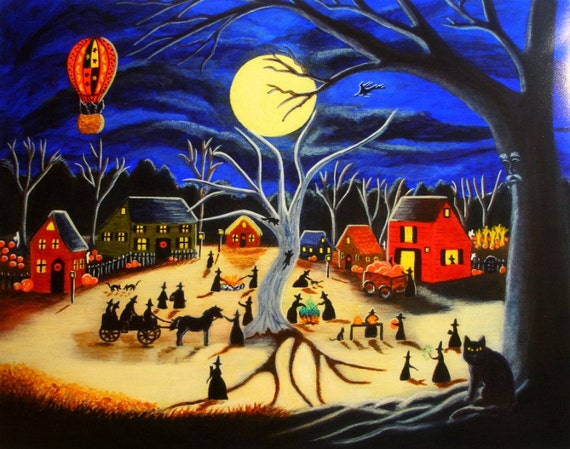 "Halloween Art Print titled "" Hauntoberfest at Brewside Village"""
