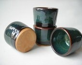 Stoneware Shot Glasses  Set of 4