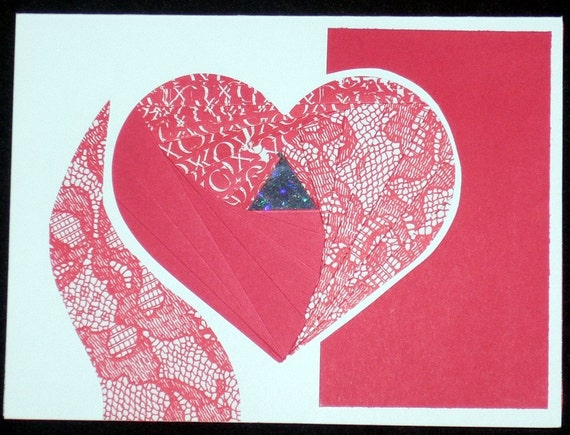 Designs by Denise - Iris Fold Card - Heart Cutout