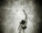 Swimmer IV 6.5X6.5 dreamy holga gelatin silver print