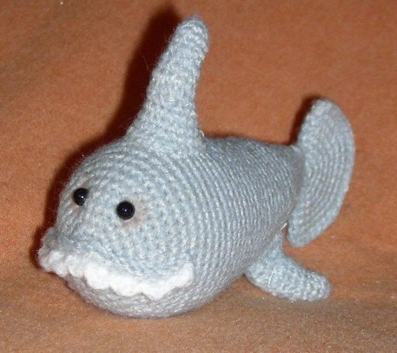 Amigurumi Shark Crochet Pattern : Items similar to Amigurumi Shark Crochet Pattern PDF ...