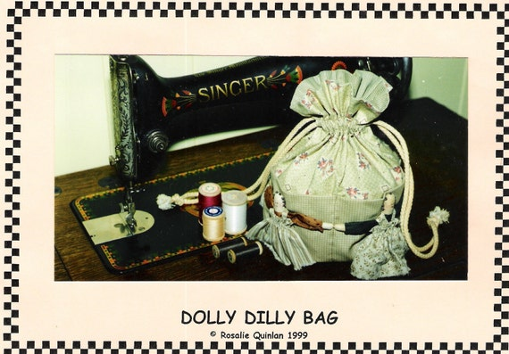Dolly Dilly Bag Pattern Drawstring Bag Purse