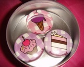 Summer Trio - Ice Cream, Cake, and Cupcake Magnets