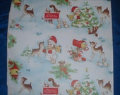 Vintage Holiday Gibson Greeting Cards Wrapping Paper
