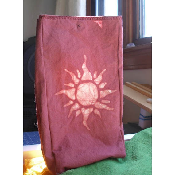 Reusable Cloth Lunchbag in Clay Red