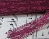 Vintage Wine Colored Lace- 3 Yards