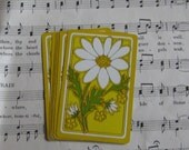Vintage Daisy Playing Cards--Set of 10