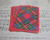 Vintage Plaid Playing Cards- Set of 10
