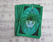 Vintage Fern Playing Cards- Set of 9
