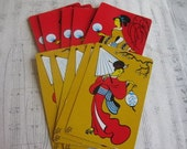 Vintage Asian Playing Cards--Set of 10