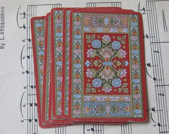Vintage Flower Playing Cards- Set of 10