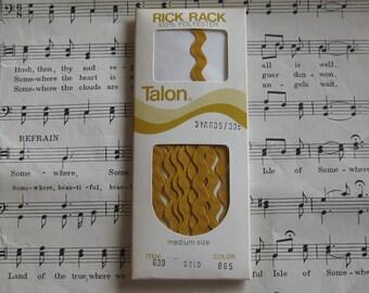 Vintage Gold Rick Rack----3 Yards