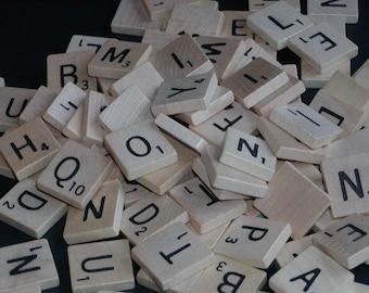 Scrabble Tiles; Bulk Scrabble, Jewelry Supplies----Random Set of 20