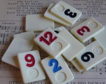 Vintage Rummikub Game Pieces- Set of 14