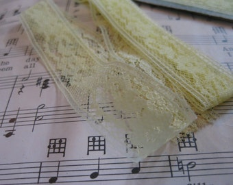 Vintage Canary Yellow Lace- 3 Yards