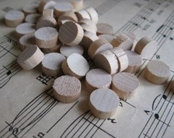 Vintage Wood Bingo Markers- Set of 24