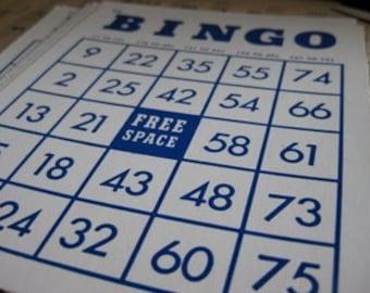 Bingo Cards- Set of 6