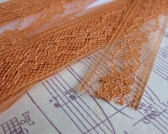 Orange Lace- 3 Yards