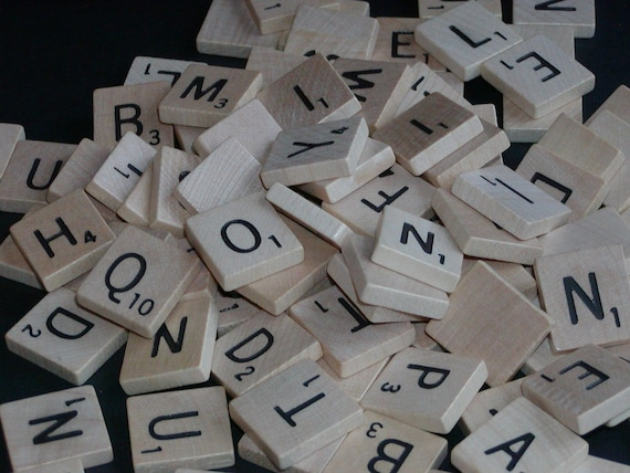 Vintage Scrabble Tiles----Random Set of 20