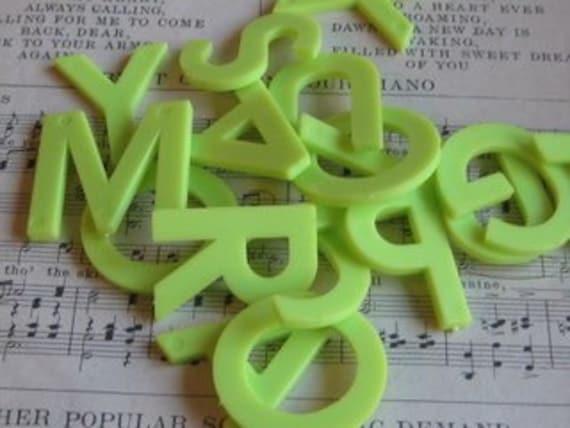 Green Letters- Random Set of 10