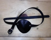 leather eye patch  reserved for emma
