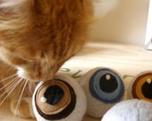 Cat Toy - Catnip Toy - Catnip Eyeballs (Pair)
