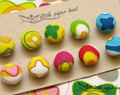 Color fun buttons