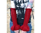 RESERVED -- Black Romantic Goth Armwarmers for SHANNONSAYLOR ONLY