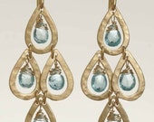 Peacock Earrings with Apatite