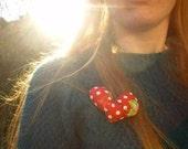 me love heart badge