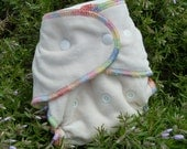 ORGANIC Bamboo VELOUR................. Fitted Cloth Diaper....One Size Fits ALL.........10 to 35lbs.....