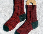 Ladies thick burgundy wool socks - size 9.5 or 10