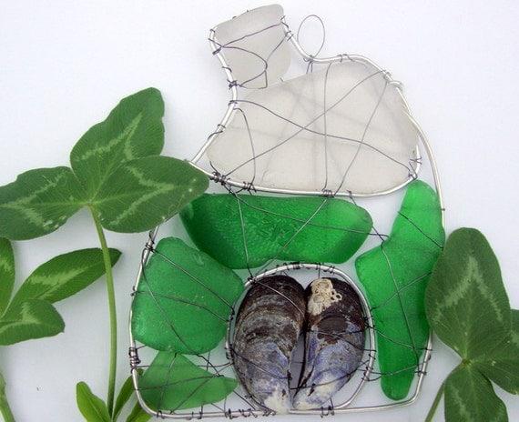 Green Cottage Seaglass Suncatcher